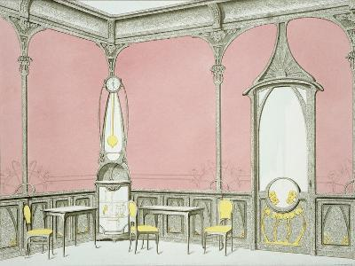 Interior Design For a Brasserie, Illustration from Menuiserie D'Art Nouveau, Published c.1900-F. Barabas-Giclee Print