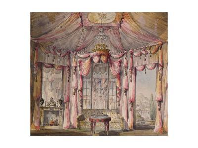 Interior Design for the Boudoir in the Count Bezborodko House in Moscow, 1790S-Nikolai Alexandrovich Lvov-Giclee Print