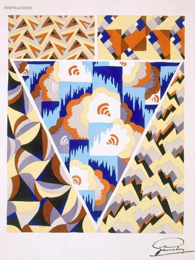 Interior Design Pattern, Plate 2 from 'Inspirations', Published Paris, 1930S (Colour Litho)- Gandy-Giclee Print