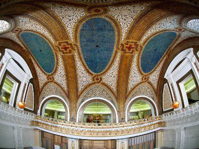 Interior Detail of Tiffany Dome, Marshall Field and Company Building, Chicago, Illinois, USA--Photographic Print