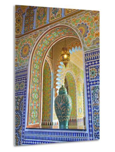 Interior Details of Continental Hotel, Tangier, Morocco, North Africa, Africa-Neil Farrin-Metal Print