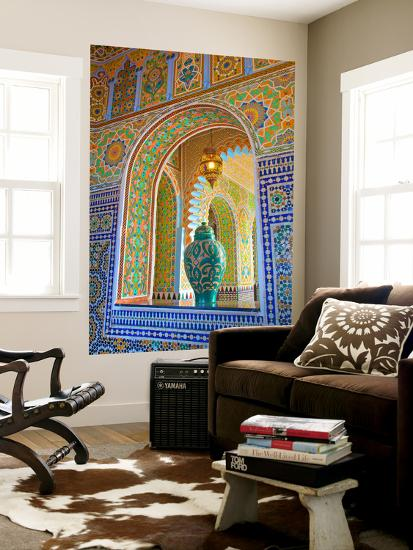 Interior Details of Continental Hotel, Tangier, Morocco, North Africa, Africa-Neil Farrin-Wall Mural