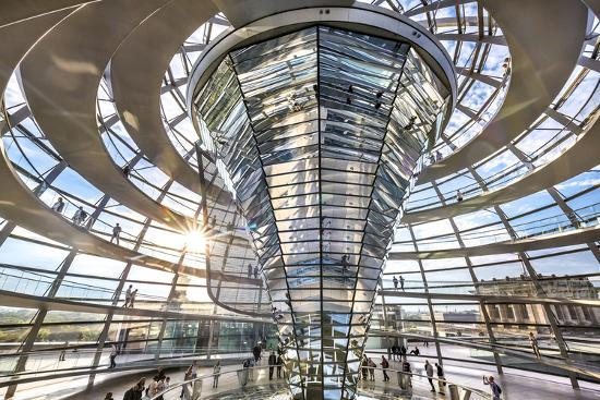 Interior, Dome, Reichstag, Berlin, Germany-Sabine Lubenow-Photographic Print