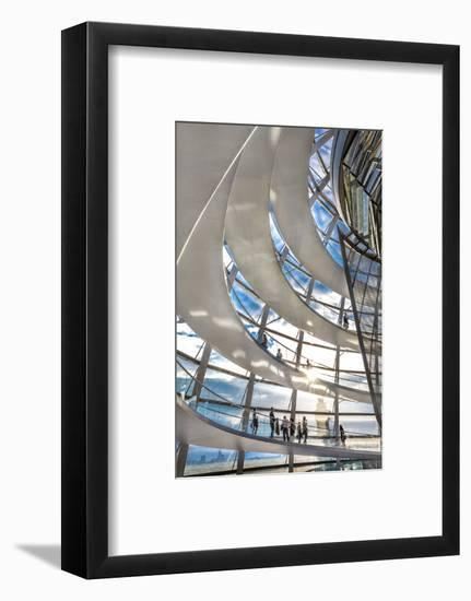 Interior, Dome, Reichstag, Berlin, Germany-Sabine Lubenow-Framed Photographic Print