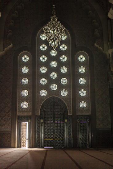 Interior Door and Window at the Hassan Ii Mosque, Casablanca, Morocco-Richard Nowitz-Photographic Print