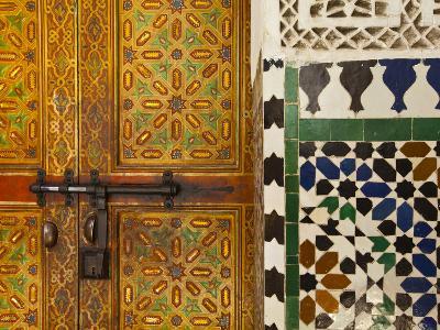 Interior Door Detail, Moulay Ismal Mousoleum, Medina, Meknes, Morocco-Doug Pearson-Photographic Print