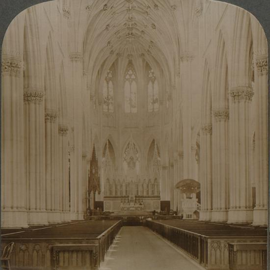 'Interior finest Gothic structure in U.S. - St. Patrick's Cathedral, New York', c1900-Unknown-Photographic Print