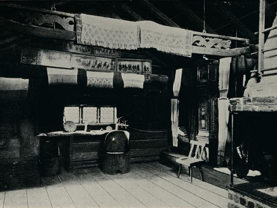 'Interior From Mora, Skansen Open Air Museum, Stockholm', 1925-Unknown-Photographic Print