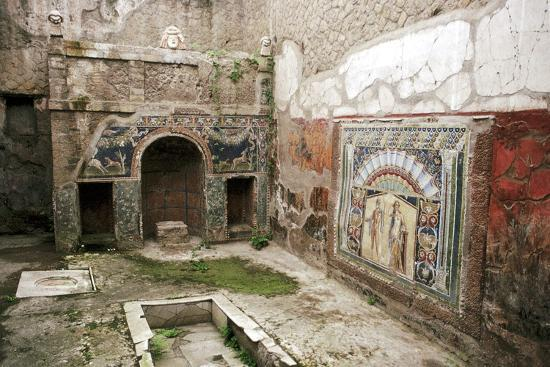 Interior garden-room in the House of Neptune, Herculaneum, Italy. Artist: Unknown-Unknown-Giclee Print