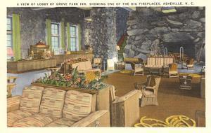 Interior, Grove Park Inn, Asheville, North Carolina