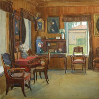 Interior in the House in Chegodayevo Village, 1900s-Olga Nikolayevna Korovina-Giclee Print