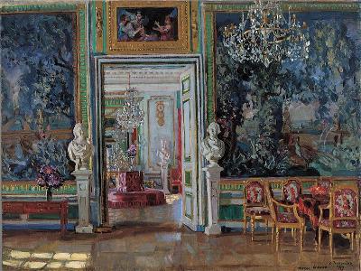 Interior in the Kuskovo Palace, 1917-Stanislav Yulianovich Zhukovsky-Giclee Print