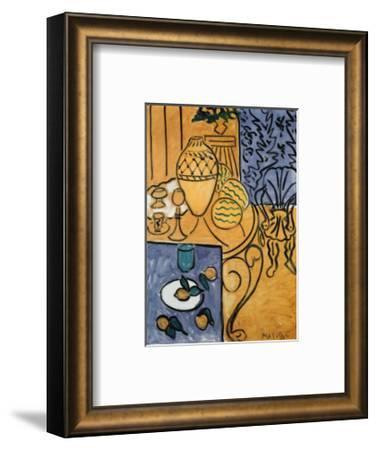 Interior in Yellow and Blue, 1946-Henri Matisse-Framed Art Print
