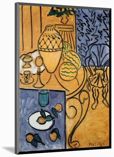 Interior in Yellow and Blue, 1946-Henri Matisse-Mounted Art Print