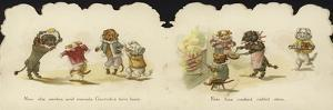 Interior of a Card Depicting Dogs in Circus Costumes