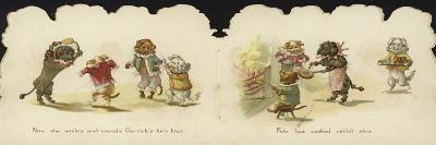 Interior of a Card Depicting Dogs in Circus Costumes--Giclee Print