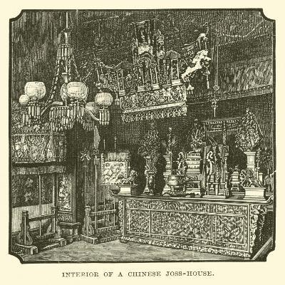 Interior of a Chinese Joss-House--Giclee Print