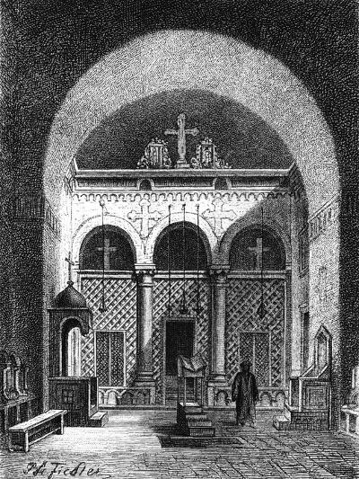 Interior of a Church, Egypt, 1881--Giclee Print