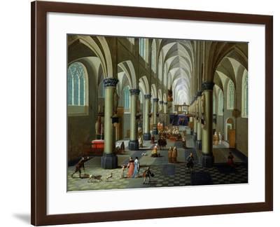 Interior of a Church-Pieter Neeffs the Elder-Framed Giclee Print