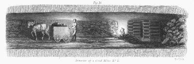 Interior of a Coal Mine, 1862--Giclee Print