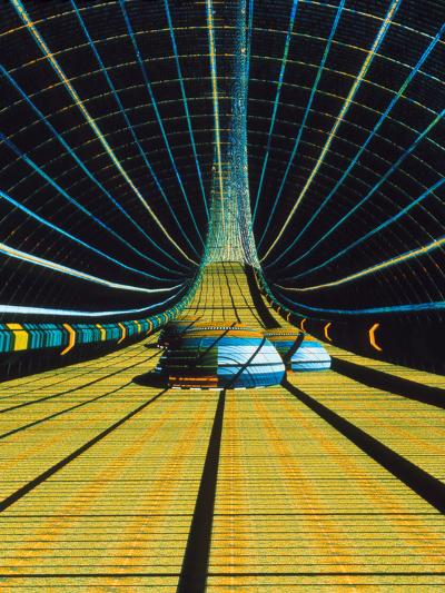 Interior of a Giant Farm Spaceship.-Julian Baum-Photographic Print