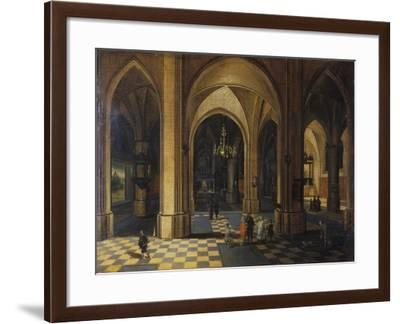 Interior of a Gothic Church-Pieter The Elder Neeffs-Framed Giclee Print