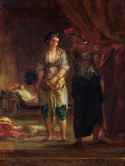 Interior of a Harem in Oran, c.1847-Eugene Delacroix-Giclee Print