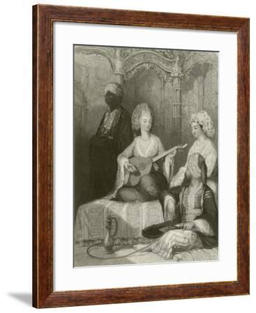 Interior of a Harem-Thomas Allom-Framed Giclee Print