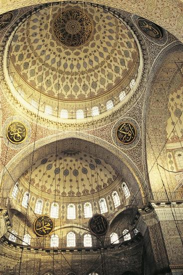 Interior of a Mosque, Istanbul, Turkey--Photographic Print