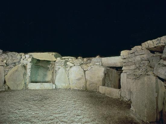 Interior of a passage grave, 26th century BC-Unknown-Photographic Print