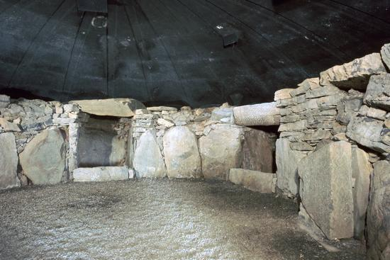 Interior of a passage grave at Fourknocks, 3000 to 2500 BC. Artist: Unknown-Unknown-Photographic Print