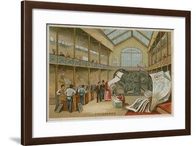 Interior of a Printing House--Framed Giclee Print