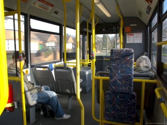 Interior of a Public Bus, England, United Kingdom-Charles Bowman-Photographic Print