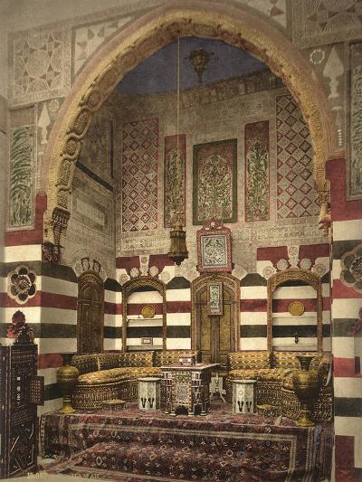 Interior of a Reception Room in a Fine House, Damascus, C.1880-1900--Photographic Print