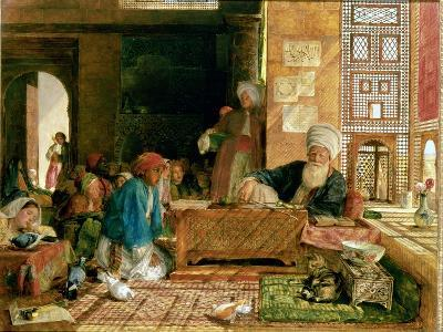Interior of a School, Cairo-John Frederick Lewis-Giclee Print