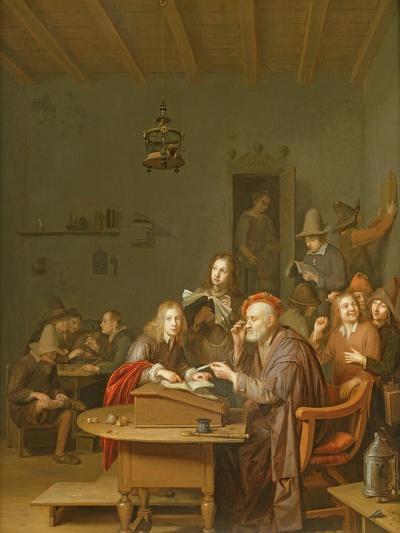Interior of a School Room-Pieter Harmansz Verelst-Giclee Print