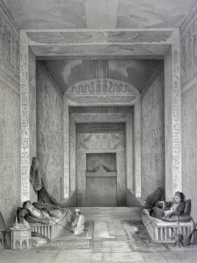 Interior of a Temple, Egypt, 19th Century-George Moore-Giclee Print