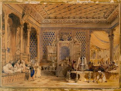 Interior of a Turkish Caffinet, Constantinople, 1838-Thomas Allom-Giclee Print