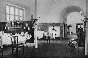 Interior of a ward in the Rigshospitalet (National Hospital), Copenhagen, Denmark, 1922