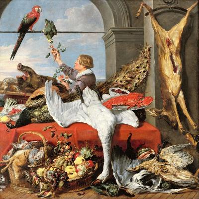 Interior of an Office, or Still Life with Game, Poultry and Fruit, c.1635-Frans Snyders Or Snijders-Giclee Print