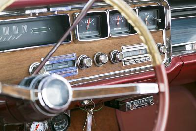 Interior of an Old Classic Car, Tucumcari, New Mexico, USA. Route 66-Julien McRoberts-Photographic Print