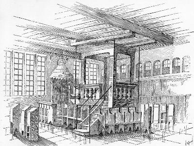 Interior of an Old Synagogue at Metz, Germany--Giclee Print