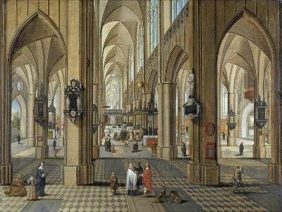 Interior of Antwerp Cathedral, Flemish, 17th Century-Pieter Neeffs the Elder-Giclee Print