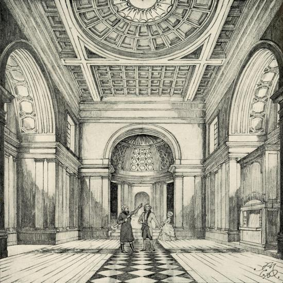 'Interior of Ayot St. Lawrence Church, Hertfordshire', (1938)-Unknown-Giclee Print