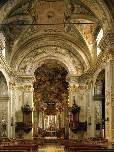 Interior of Basilica of Assumption Including High Altar, Sacred Mountain of Varallo Sesia, Italy--Giclee Print