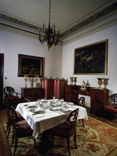 Interior of Biedermeier Style Dining Room, Villa Sartorio, Trieste, Friuli-Venezia Giulia, Italy--Giclee Print