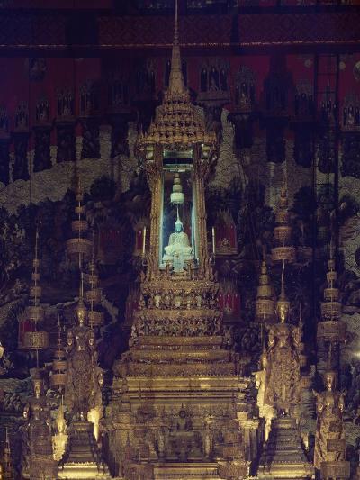 Interior of Bot, or Chapel, of Emerald Buddha in Wat Phra Kaew, Grand Palace, Bangkok, Thailand--Giclee Print