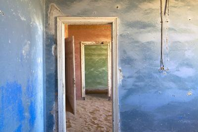 Interior of Building Slowly Being Consumed by the Sands of the Namib Desert-Lee Frost-Photographic Print