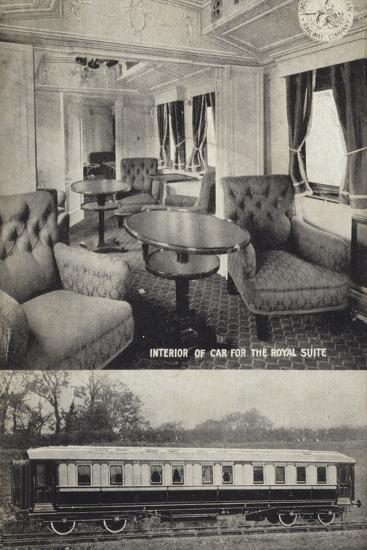 Interior of Car for the Royal Suite; Exterior--Photographic Print