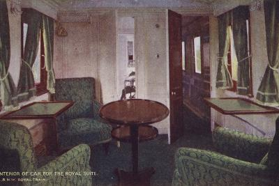 Interior of Car for the Royal Suite--Photographic Print
